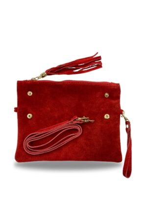 Leather Folding Clutch Bag
